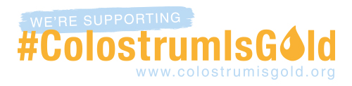 Colostrum is gold logo